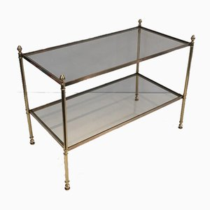 French Neoclassical Style Brass Side Table by Maison Jansen, 1940s