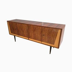 Italienisches 4-türiges Holz Sideboard, 1960er