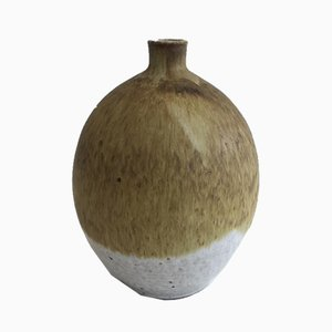 Kleine Vase aus Sandstein in Blumen-Optik von Edouard Chapallaz für Chapallaz Duillier, 1950er