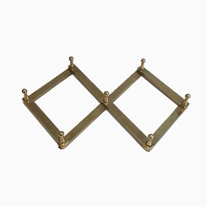 Small French Brass Coat Hanger, 1970s
