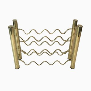 French Brass Bottles Rack, 1970s