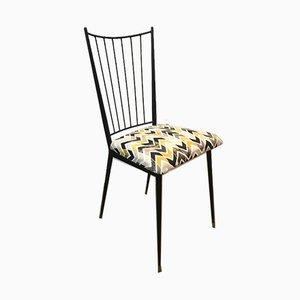 Schwarz Lackierte Französische Stühle von Colette Gueden, 1950er, 2er Set