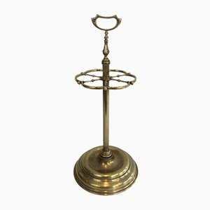 French Neoclassical Style Brass Umbrella Stand, 1940s