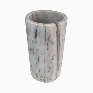 Italian Carrara Marble Umbrella Stand in the Style of Angelo Mangiarotti, 1970s