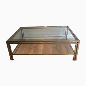 French Modernist Chrome Coffee Table, 1970s