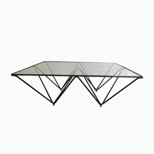 Italian Black Lacquered Pyramidal Coffee Table Attributed to Paolo Piva, 1970s