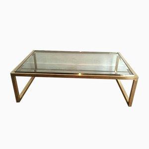 Table Basse en Laiton et Chrome, 1970s