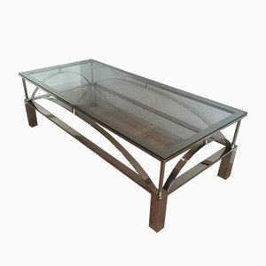French Chrome Coffee Table, 1960s