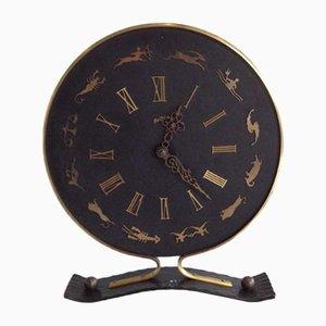 Dekorative französische Aquarius Uhr von Jaeger Lecoultre, 1950er