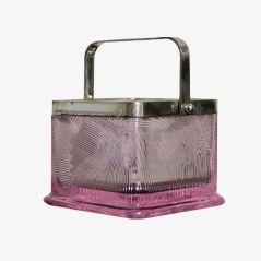 Crystal Glass Ice Bucket by Sergio Asti, 1960s