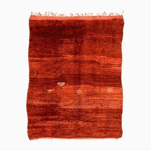 Großer Roter Vintage Marokkanischer Beni Ourain Teppich, 1980er