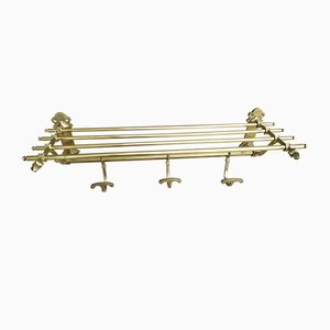 Brass Wall Coat Rack