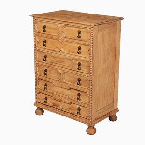 Bleached Oak Geometrical Chest of Drawers, 1920s