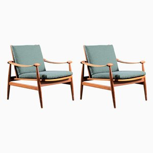 Mid-Century Spade Lounge Chairs by Finn Juhl for France & Søn / France & Daverkosen, Set of 2