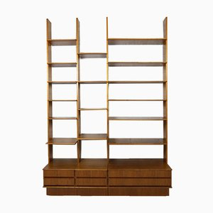 German Modular Walnut Shelf by Peter Petrides for Interna, 1960s