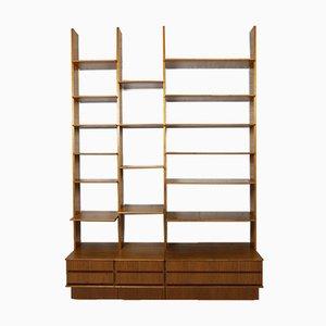 German Modular Walnut Shelf by Peter Petrides for Interna, 1960s