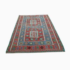 Türkischer Vintage Kelim-Teppich in Blau & Rot, 1970er