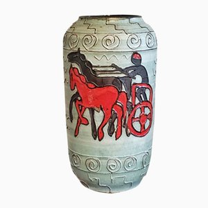 Nr. Mid-Century Vase de Plancher 546/50 avec Chargeur à Carreaux de Scheurich