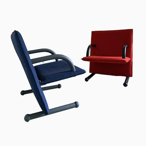 Postmodern T-Line Chairs by Burkhard Vogtherr for Arflex, 1980s, Set of 2