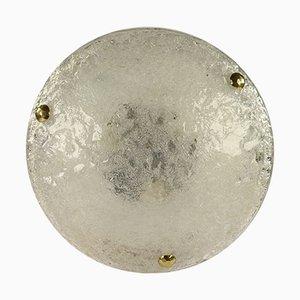 Lampade da soffitto a incasso vintage in vetro di Kaiser Idell / Kaiser Leuchten, anni '60, set di 2