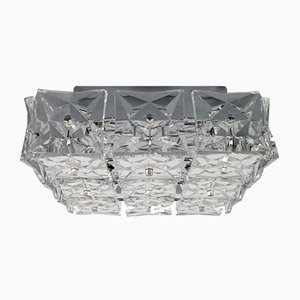 Mid-Century Deckenlampe aus Glas von Kinkeldey