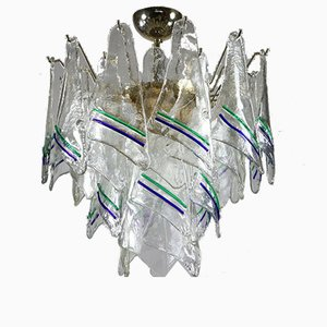 Vintage Hand Blown Murano Glass Pendant Lamp from Mazzega, 1960s