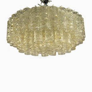 Vintage Pyramid Shaped Tubular Glass Flush Mount Ceiling Lamp from Doria Leuchten, 1960s