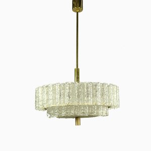 Vintage Pyramid Shaped Tubular Glass Ceiling Lamp from Doria Leuchten, 1960s