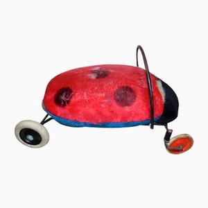 Silla infantil Ladybug con ruedas de Steiff, años 60