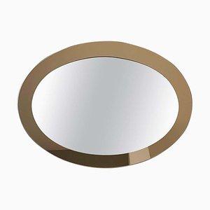 Italienischer Ovaler Mid-Century Spiegel, 1960er