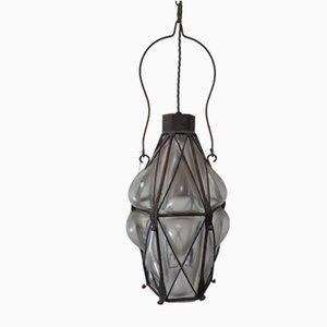 Vintage Blown Bubble Glass Ceiling Lamp