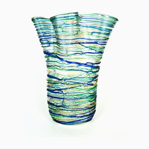 Green Sea Water Blown Murano Glass Vase from Made Murano Glass