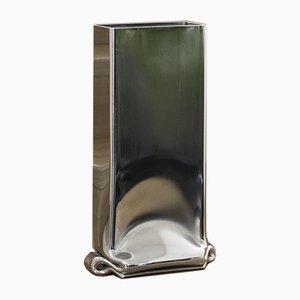 Vaso grande Pressure Chrome cromato di Tim Teven Studio