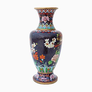 Large Antique Oriental Cloisonne Vase