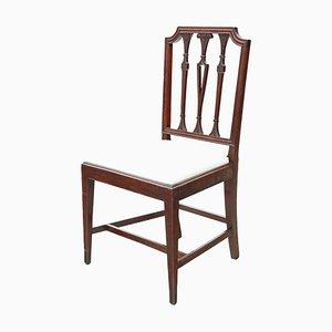 Georgianische Esszimmerstühle aus Mahagoni, 1800er, 4er Set