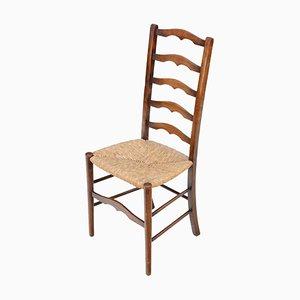Antike Esszimmerstühle aus Buche & Binse, 4er Set