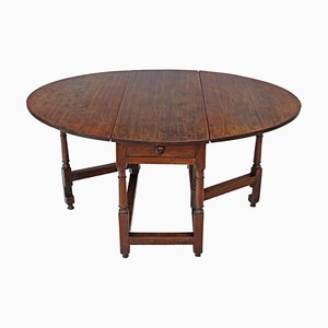 18th Century Oak Gate-leg Drop Leaf Dining Table