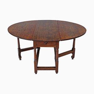 Klappbarer Esstisch aus Eiche aus dem 18. Jahrhundert