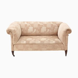 Small Antique Victorian Chesterfield Drop-Arm Sofa, 1890s