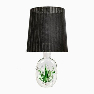 Mid-Century Swedish Model Seaweed Table Lamp by Vicke Lindstrand for Kosta, 1950s