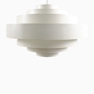 Large Vintage Perforated Metal Ceiling Lamp from Bega, 1970s
