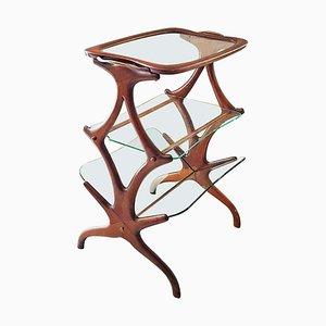 Table d'Appoint en Teck par Cesare Lacca, Italie, 1950s