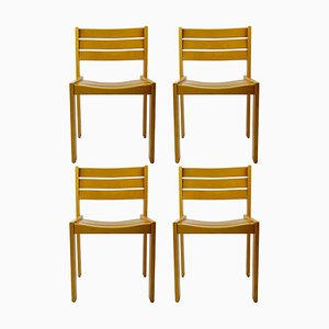 Stacking Wooden Dining Chairs from Wilkhahn, 1980s, Set of 4