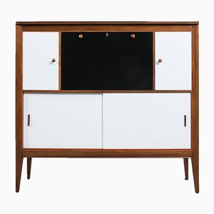 Mid-Century English Black and White Secretaire from Ian Henderson, 1960s
