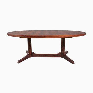 Oval Rosewood Dining Table by Robert Heritage for Archie Shine, 1960s