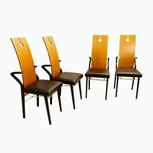 Esszimmerstühle von Pierre Cardin, 1980er, Set of 4
