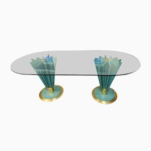 Italian Double Oval Dining Table by Pierre Cardin, 1980s