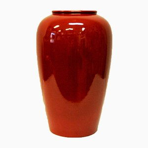 Vase Vintage Rouge de Scheurich, Allemagne, 1970s