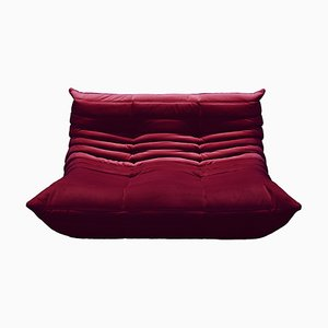 Velvet Togo Sofas by Michel Ducaroy for Ligne Roset, 1970s, Set of 2