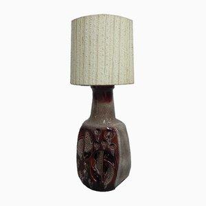 Vintage Stehlampe mit Keramikfuß, 1960er
